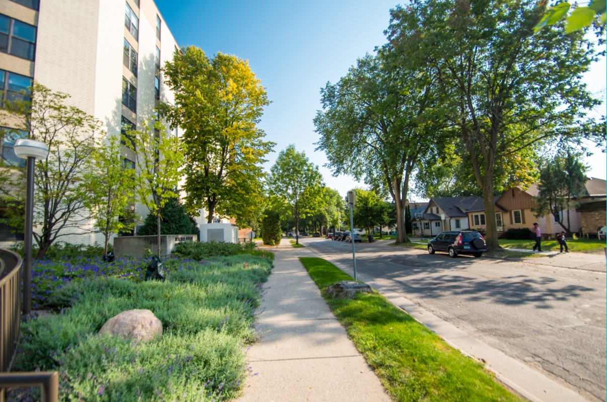 Nokomis Square Cooperative Street in Minneapolis