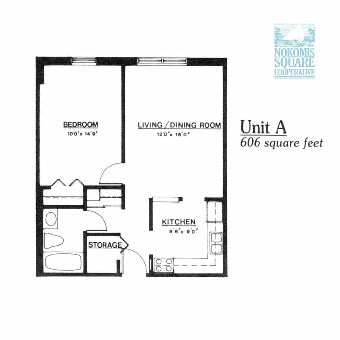 1 br Floorplan Unit A - Nokomis Square Senior Cooperative