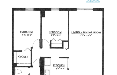 2 br Floorplan Unit C - Nokomis Square Senior Cooperative