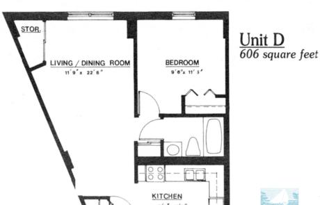1 br Floorplan Unit D - Nokomis Square Senior Cooperative