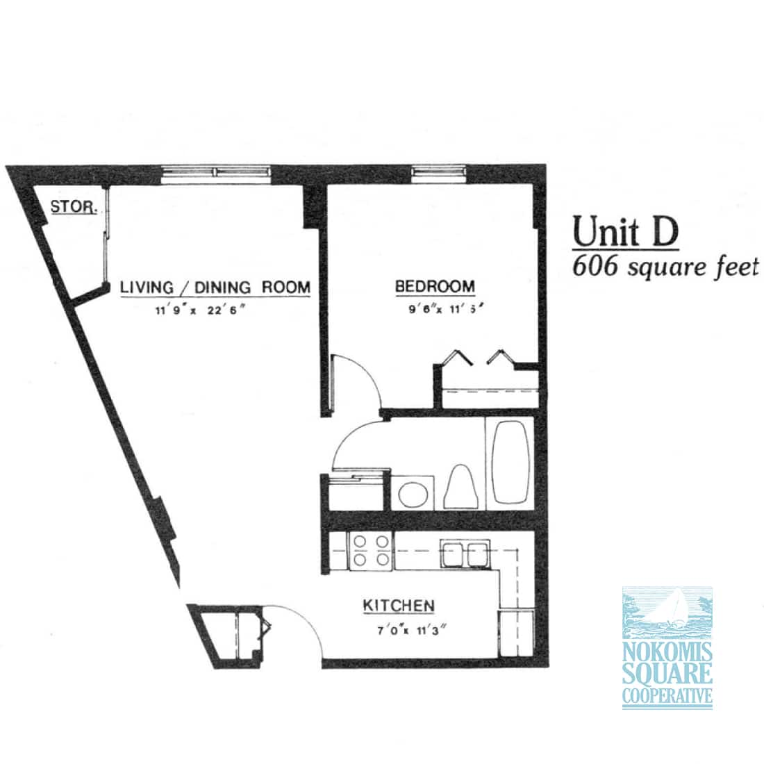 1 br Floorplan Unit D - Nokomis Square Senior Cooperative