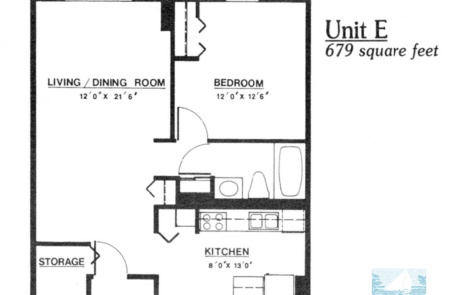1 br Floorplan Unit E - Nokomis Square Senior Cooperative