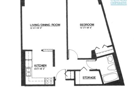 1 br Floorplan Unit F - Nokomis Square Senior Cooperative
