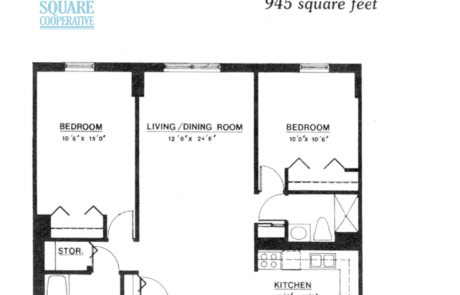 2 br Floorplan Unit G1 - Nokomis Square Senior Cooperative