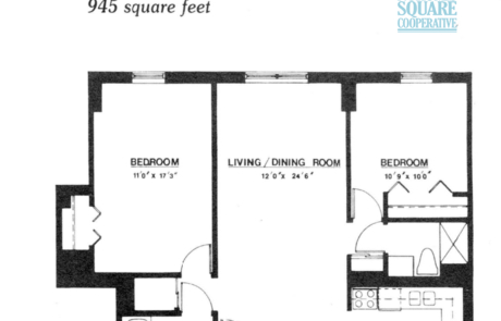 2 br Floorplan Unit G3 - Nokomis Square Senior Cooperative