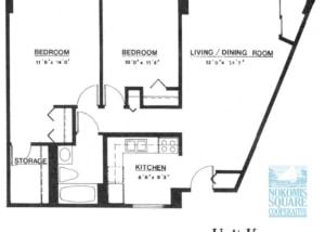 2 br Floorplan Unit K - Nokomis Square Senior Cooperative