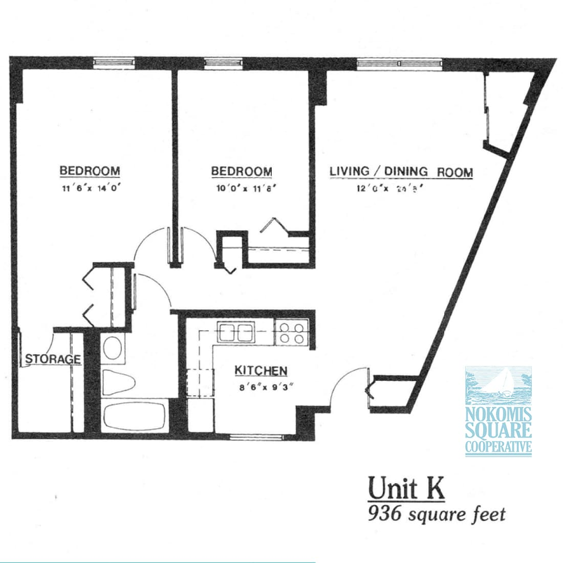 2 br Floorplan Unit K - Nokomis Square Senior Cooperative
