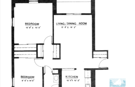 2 br Floorplan Unit L - Nokomis Square Senior Cooperative