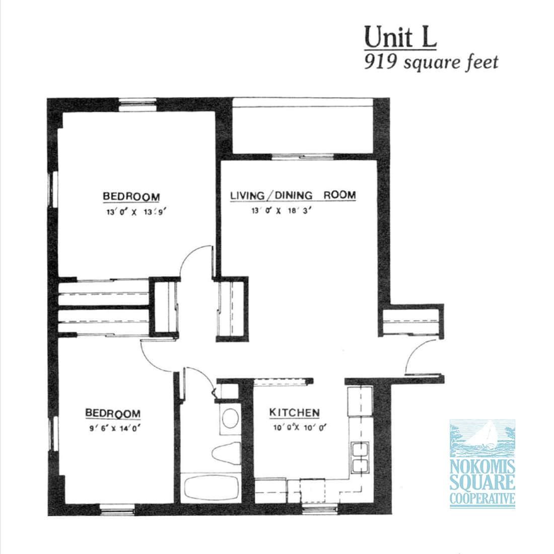 2 br Floorplan Unit L - Nokomis Square Senior Cooperative