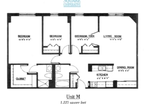 3 br Floorplan Unit M - Nokomis Square Senior Cooperative