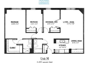 3 br Floorplan Unit M - Nokomis Square Senior Cooperative