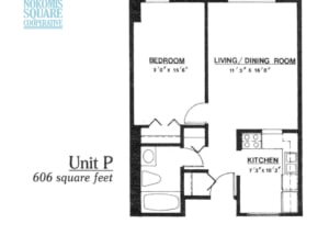 1 br Floorplan Unit P - Nokomis Square Senior Cooperative