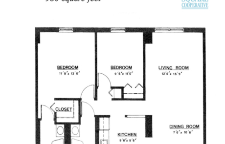 2 br Floorplan Unit S - Nokomis Square Senior Cooperative