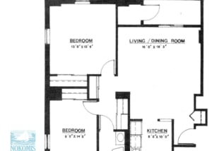 2 br Floorplan Unit T - Nokomis Square Senior Cooperative