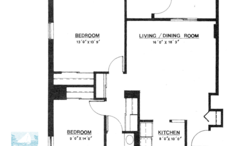 2 br Floorplan Unit T - Nokomis Square Senior Cooperative